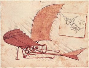 One of Da Vinci's flying machines.